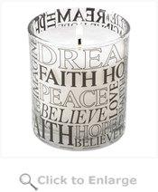 Sentimental Words Jar Candle