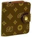 Donna di Bella - Letter Pattern Zippered Wallet