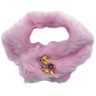 Faux Mink Stole - Pink