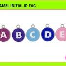 Enamel Initial ID Tag