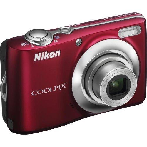 Nikon Coolpix L22 Red 12MP Digital Camera w/ 3.6x Optical Zoom