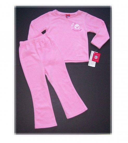 New Pittsburgh Steelers 2 Peice Pajama Set Size 4T