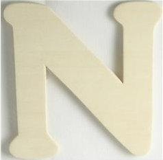 Wood Letter - N