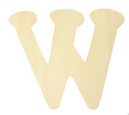 Wood Letter - W