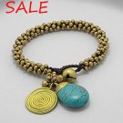 Multiple stones of gold blue bracelet jewelry for party or day out