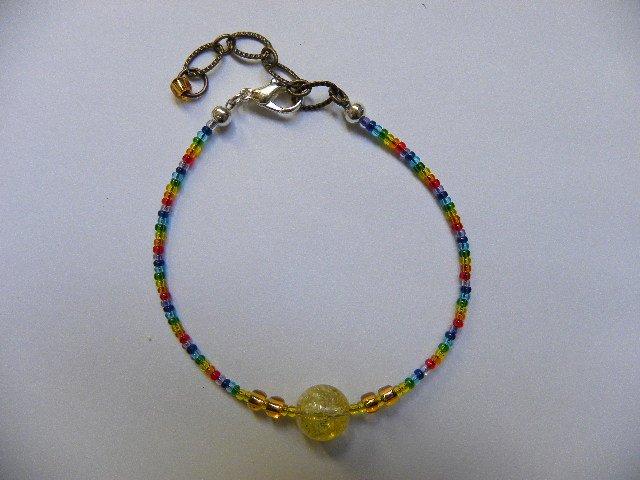 Yellow orb self power energy chakra bracelet