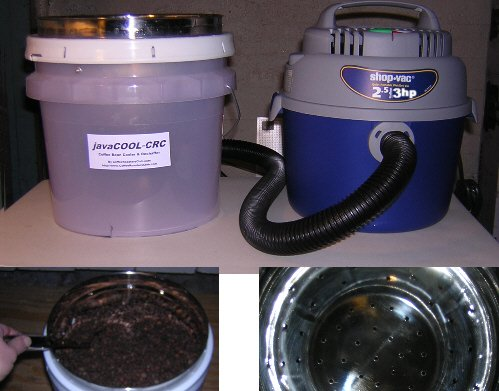 javaCOOL-CRC Coffee Bean Cooler & Dechaffer - 5 lb. unit