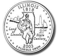 2003 Illinois State Quarter P & D Set