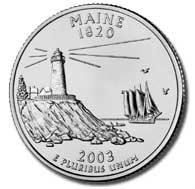 2003 Maine State Quarter P & D Set