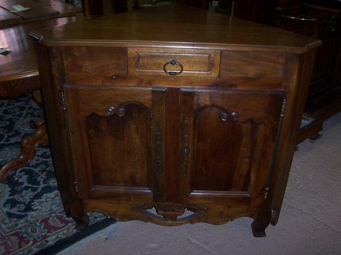 French Antique Walnut Corner Cabinet circa 1920