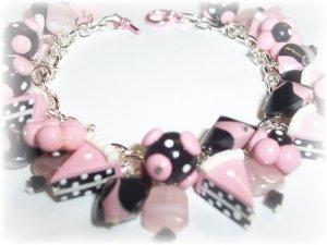 Polymer Clay Retro Chic Birthday Beads Fringe Bracelet