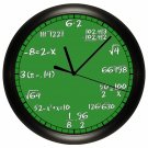 Math Wall Clock Chalkboard Equations Teacher Professor Math Class