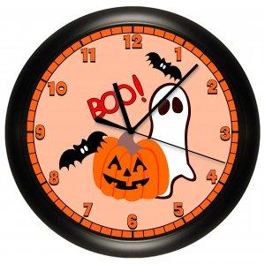Halloween Pumpkin Ghost Wall Clock Decor