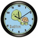 Personalized Turtle Nursery Wall Clock