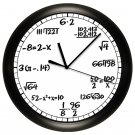 Math Wall Clock Chalkboard Equations Teacher Professor Math Clas