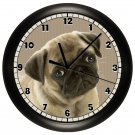 Personalized Pug Wall Clock