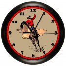 Personalized Cowboy Rodeo Wall Clock Western Country