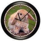 Personalized Bunny Rabbit Wall Clock