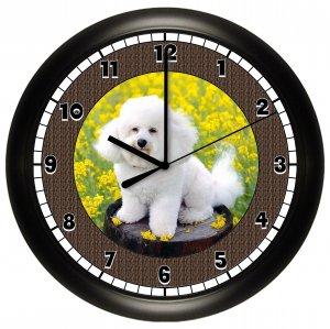 Bichon Frise Wall Clock Puppy Dog