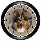 Collie Dog Wall Clock