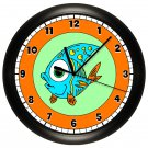 Fish Wall Clock Fish Aquarium Art Decor