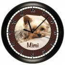 Personalized Yorkie Yorkshire Terrier Wall Clock