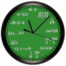 Math Wall Clock Chalkboard Equations Teacher Professor Math Clas