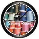 Sewing Wall Clock Art Sewing Room Crafts Decor Thread