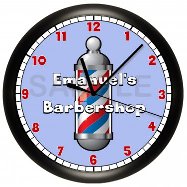 Personalized Barbershop Wall Clock