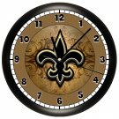 DECORATIVE FLEUR DE LIS WALL CLOCK