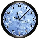 Bubbles Wall Clock Bathroom Wall Decor Art