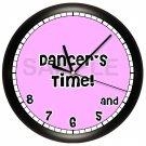 Dancer's Pink Wall Clock Girl's Bedroom Decor Art