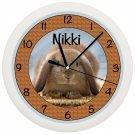 Personalized Bunny Rabbit Wall Clock CUTE ART DECOR