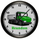 Personalized Green Truck Wall Clock