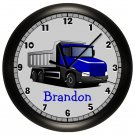 Personalized Blue Truck Wall Clock