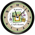 PERSONALIZED SCRAPBOOK ROOM WALL CLOCK