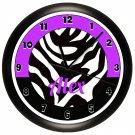 Personalized Purple Zebra Print Wall Clock