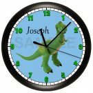 Toy Rex Wall Clock Personalized