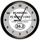 Marathon Runner Wall Clock