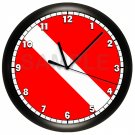 Personalized Scuba Diving Wall Clock Scuba Flag