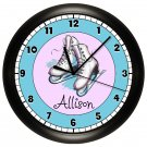Pink Ice Skating Wall Clock Personalized