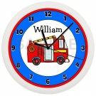 Fire Truck Nursery Wall Clock