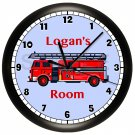 Fire Truck Nursery Wall Clock