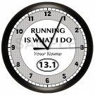 Half-Marathon Runner Wall Clock