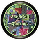 Personalized Quilting Wall Clock