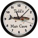 REDFISH FISHING WALL CLOCK