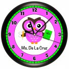Personalized Owl Teacher Wall Clock