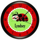 Ladybug Wall Clock Nursery Children's Bedroom