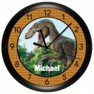 Dinosaur tyrannosaurus rex Wall Clock Personalized