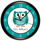 Gives a hoot Owl Teacher Wall Clock